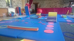 Préparation d'un atelier cirque