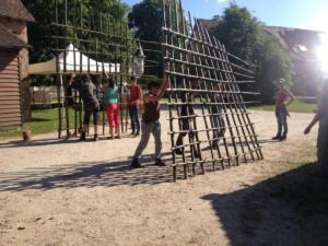 montage entrée bambou circ'en vue 2018